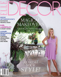 Reese Witherspoon's house-cover of Elle magazine 2012