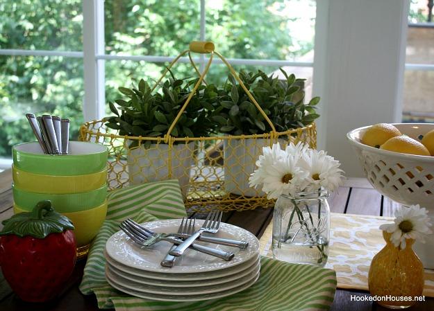 plants in yellow basket 2
