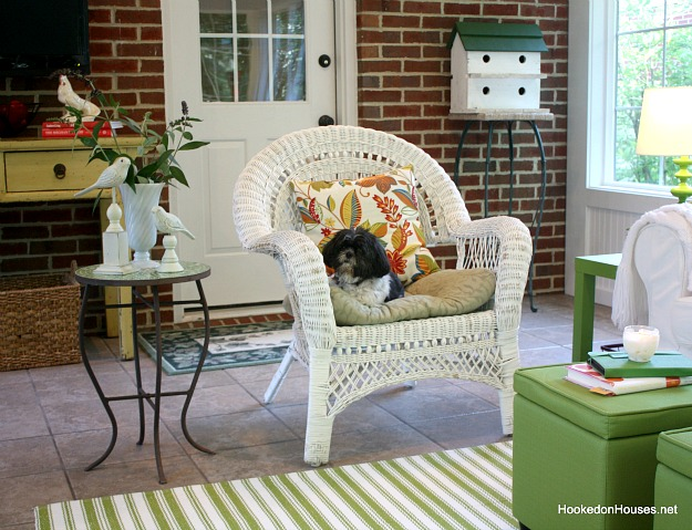 wicker chair sunroom 2