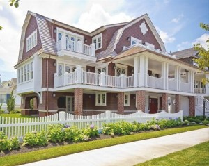 front exterior of Victorian beach house in Ocean City