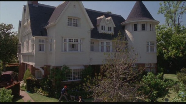 front exterior of Cheaper by the Dozen movie house with turret