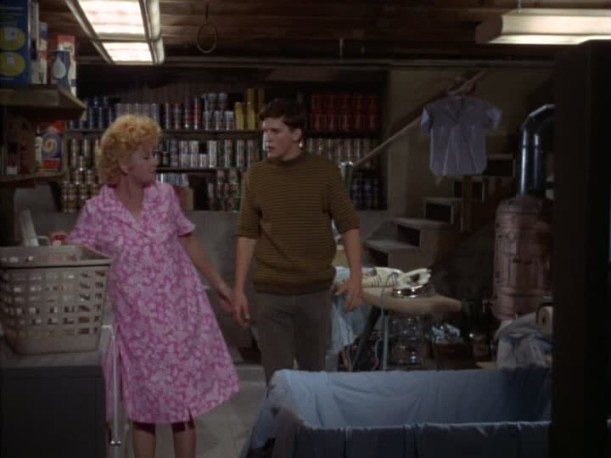 basement scene from Yours Mine and Ours movie in 1968
