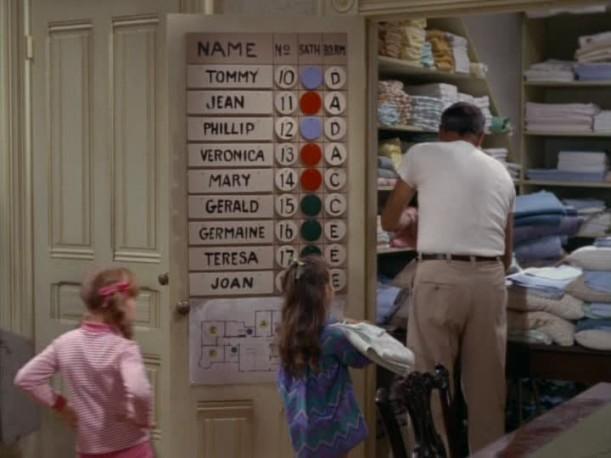 chore chart hanging on door