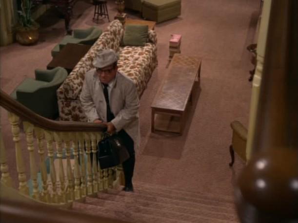 sliding down the banister