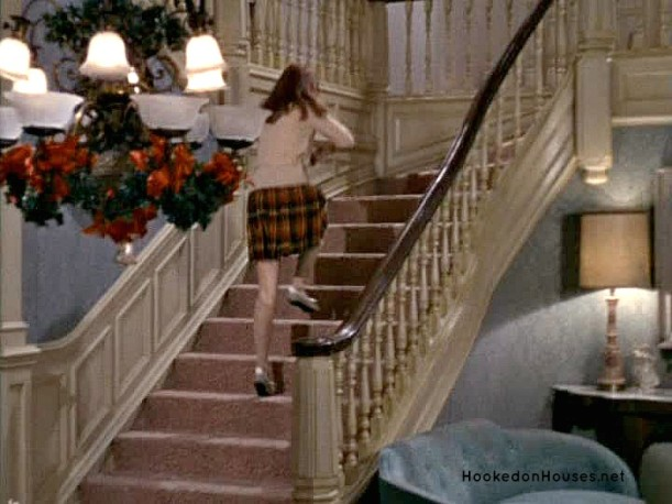 daughter running up the stairs