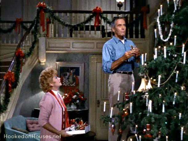 Frank Beardsley lighting the Christmas tree
