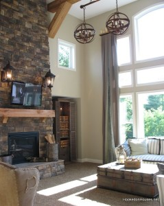 two-story family room Fischer Wheatland model 2