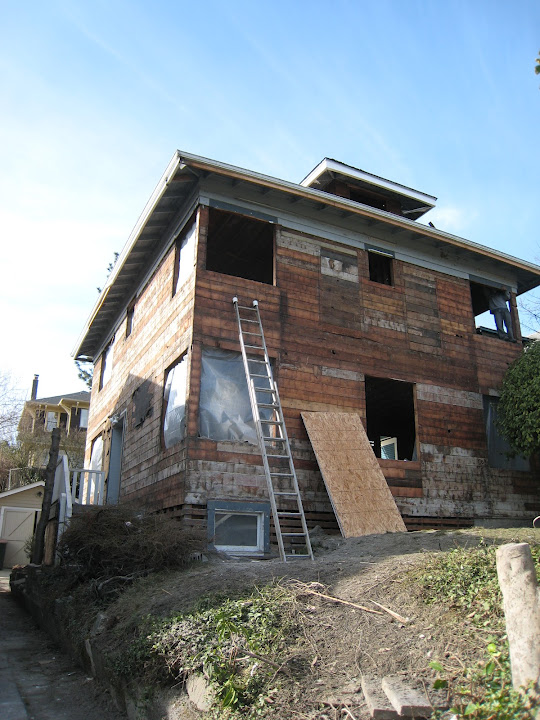 house during remodel while gutted