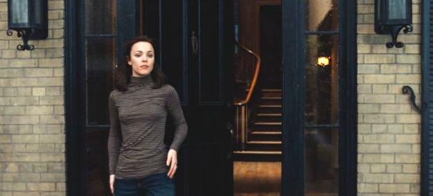 Clare at front door