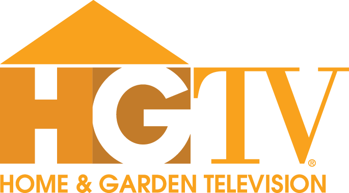 Hgtv home garden television logo gold hooked on houses Homes and gardens logo