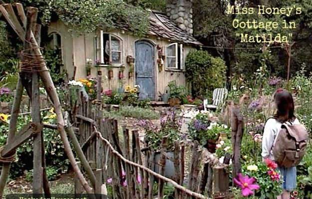 the exterior of Miss Honey's small cottage in the movie Matilda