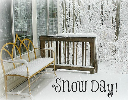 Snow Day at My House-Backyard