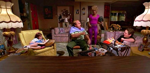 the Wormwood family in the living room