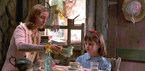 tea in Miss Honey's cottage-Matilda 2