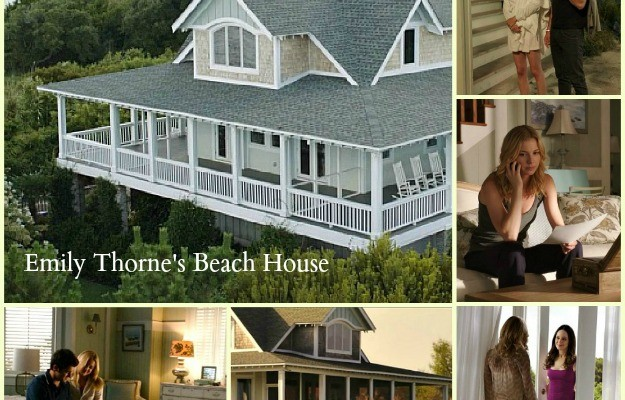collage of photos from Revenge TV show of Emily Thorne's beach house