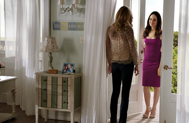 Emily and Victoria standing in the doorway
