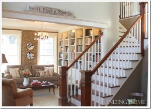 Finding Home-Laura's entry hall and staircase
