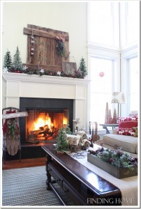 Finding Home-Laura's family room at Christmas