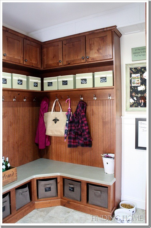 Mudroom with bench and cubbies