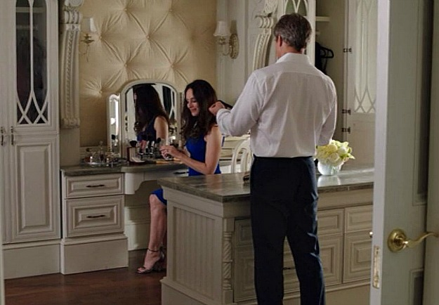 Victoria getting ready in her dressing room with Conrad