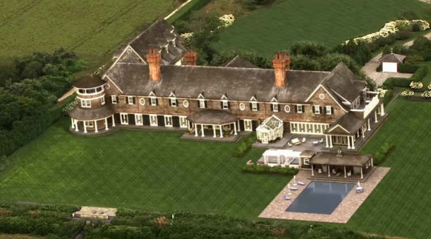 aerial view of Grayson Manor on TV show Revenge