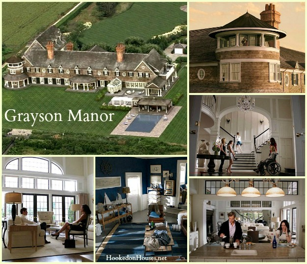 collage of photos from TV show Revenge and Grayson Manor