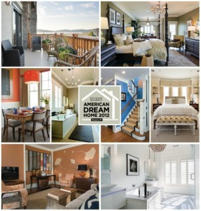 collage of photos from Westchester Magazine of American Dream Home 2012