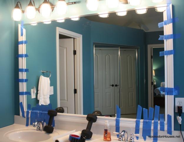Framing a plate glass bathroom mirror with moldings - How do you frame a bathroom mirror ...