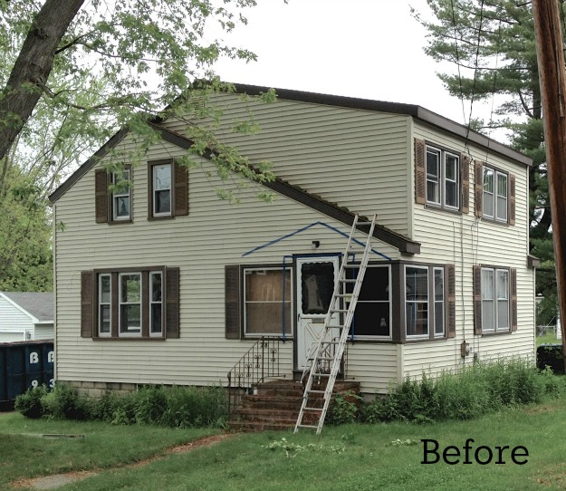 Laurel 39 s blah brown house gets curb appeal hooked on houses - Home exteriors before and after ...