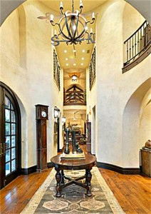 two story entry hall Texas estate 2