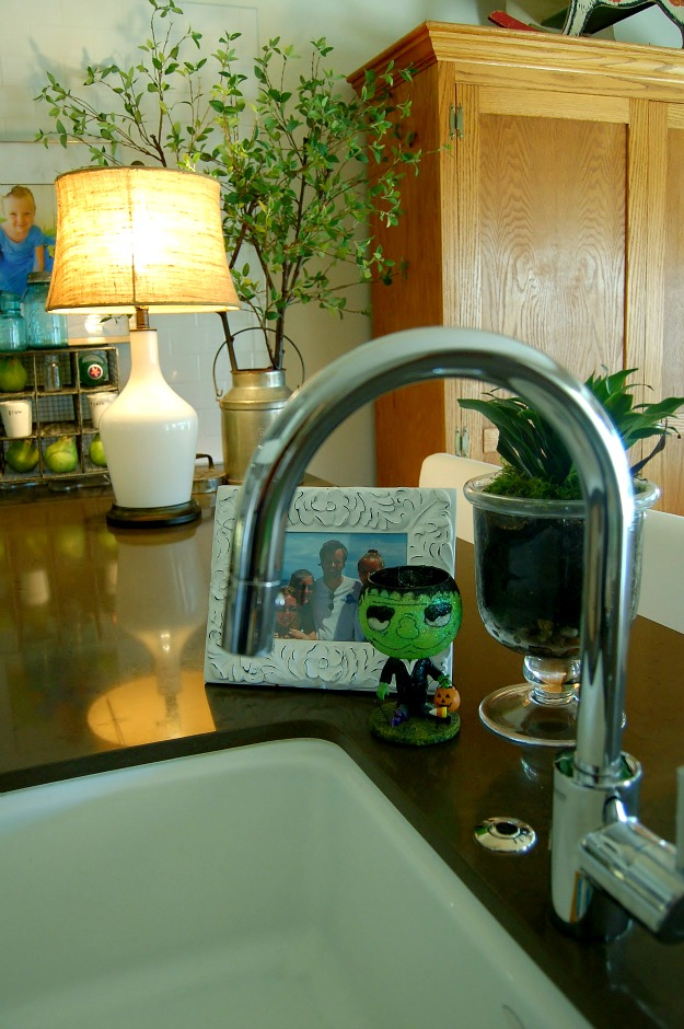 close up of sink and faucet