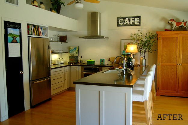 A view of a kitchen after remodel