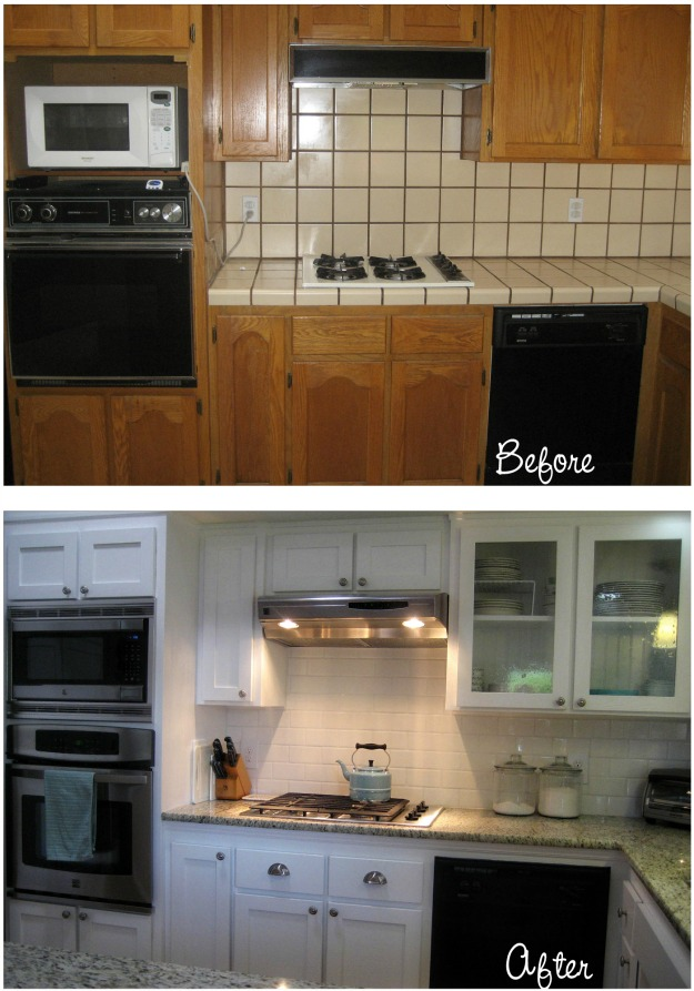 Before After Carolyn S Yucky 1980s Kitchen Hooked On Houses