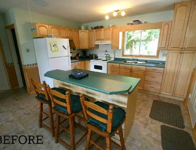 Before & After: Chania's Cottage Kitchen in Ontario
