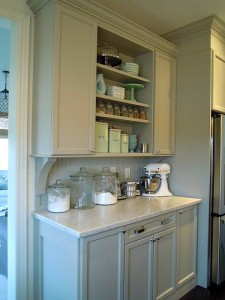 Chris Kauffman's kitchen-built-in hutch