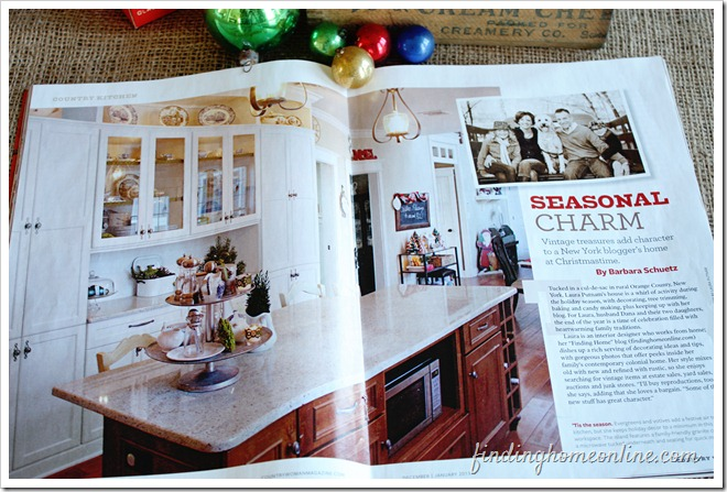Laura\'s house featured in Country Woman Magazine article