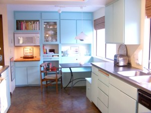 Julie's light blue kitchen 1