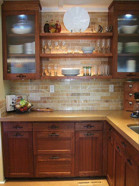 Can I Use Subwawy Tile With My Oak Kitchen Cabinets