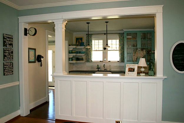 Kimberly creates a new kitchen for her old house hooked for Turning a galley kitchen into an open kitchen