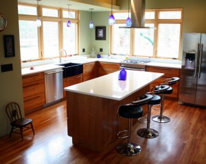Laura's modern kitchen wood cabinets