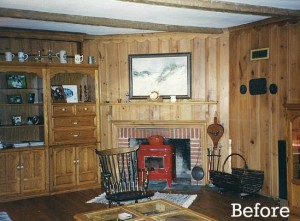 dining room with paneling before