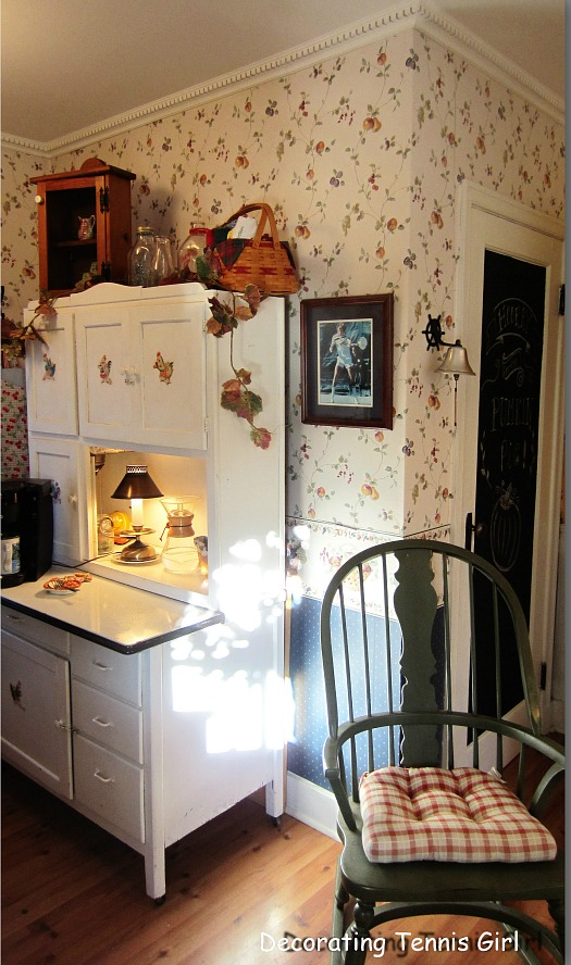 small kitchen with antiques