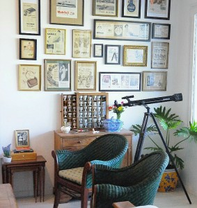Silvina's kitchen gallery wall