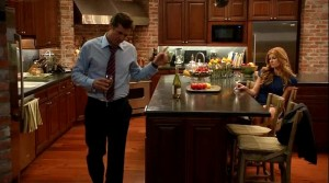 Teddy and Rayna in the kitchen on Nashville