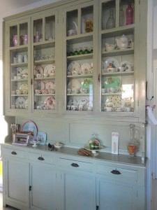 display cabinet in kitchen