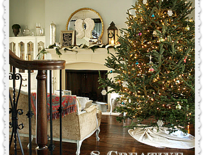 Photo with the words 8 Creative Christmas Mantels