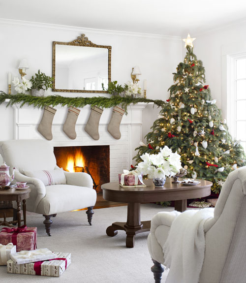 country farmhouse white christmas country liv