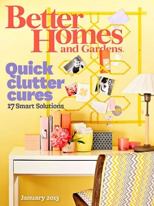Better Homes and Gardens January 2013 cover