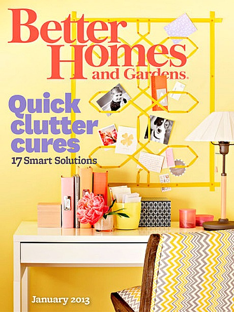 better home and gardens. Better Homes And Gardens January 2013 Cover Home
