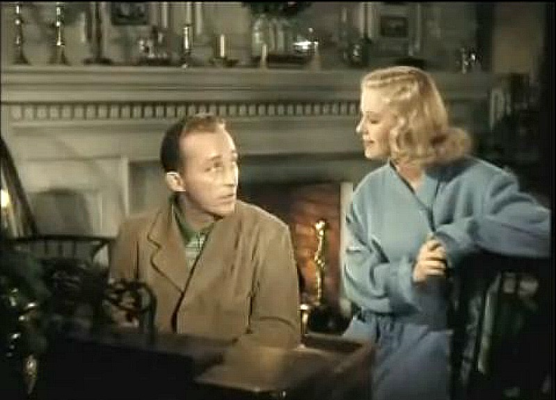 Bing Crosby and Marjorie Reynolds colorized Holiday Inn